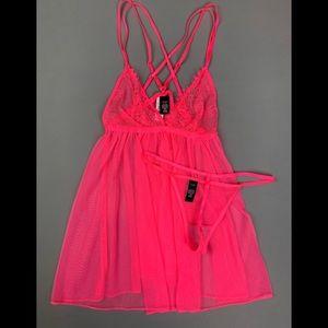 NEW! Victoria's Secret sheer lingerie set